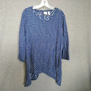 Zenergy by Chico's tunic top 3/4 sleeves